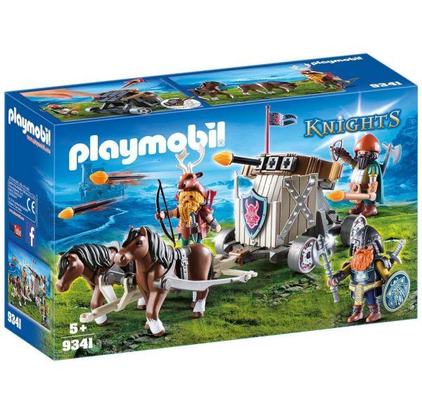 PLAYMOBIL 9341 - Knights - Ponygespann mit Zwergenballiste