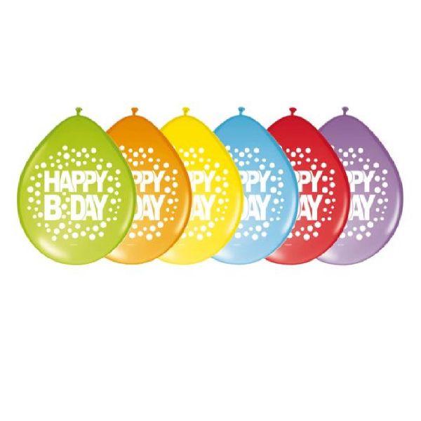 FOLAT 64200 - Geburtstag & Party - Luftballons Regenbogen, Happy Birthday, 30 cm