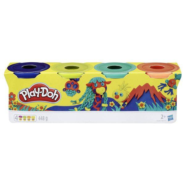 HASBRO E4867 - Play-Doh - 4er Pack WILD (dunkelblau, grün, türkis, orange)