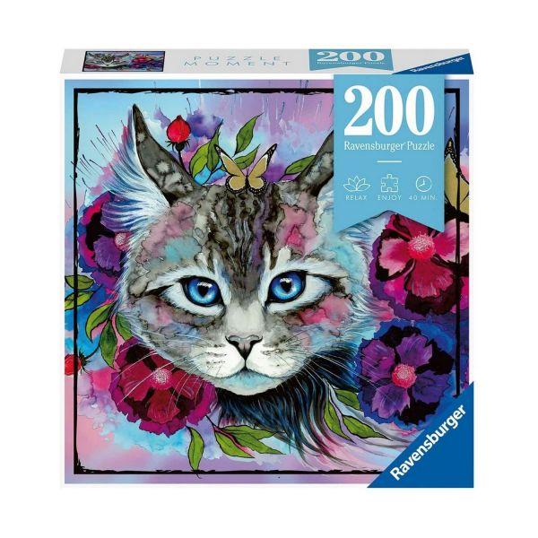 RAVENSBURGER 12960 - Erwachsenenpuzzle - Katze Cateye, 200 Teile