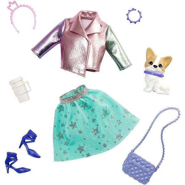 MATTEL GML65 - Barbie - Prinzessinnen Abenteuer Modeset Outfit und Hund