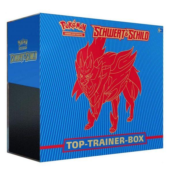 POKÉMON 45182 - Schwert & Schild - Top Trainer Box, ZAMAZENTA, Blau