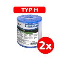 INTEX 29007 - Filterkartusche, Typ H, -  2Stück