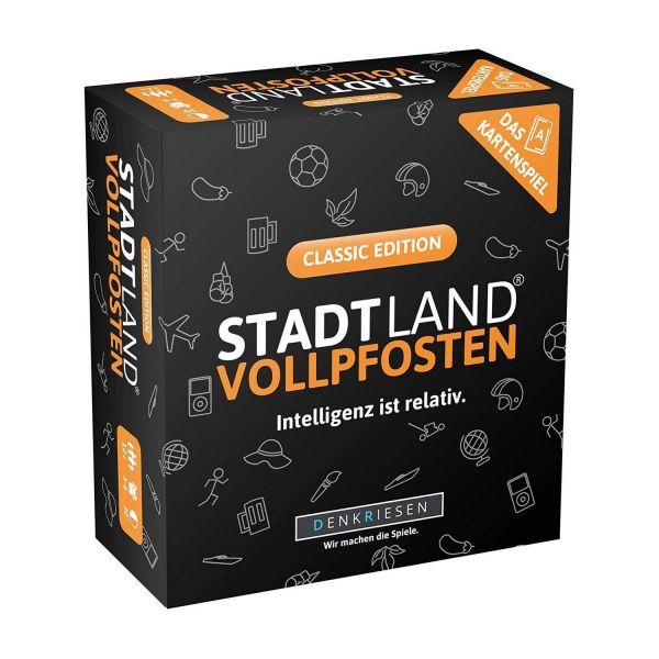 DENKRIESEN SL3001 - Kartenspiel - Stadt Land VOLLPFOSTEN - Classic Edition