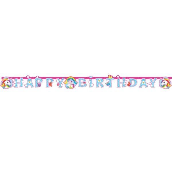 AMSCAN 9902107 - Geburtstag & Party - Partykette Einhorn, 180x15cm