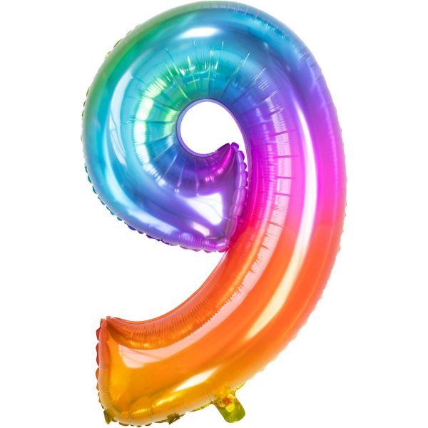 FOLAT 63429 - Folienballon - Zahl 9, Yummy Gummy, 86cm