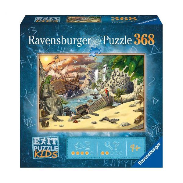 RAVENSBURGER 12954 - Puzzle - Exit Kids: Das Piratenabenteuer, 368 Teile