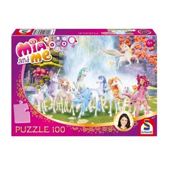 SCHMIDT 56033 - Puzzle - Mia & Me, Centopias Einhörner, 100 Teile