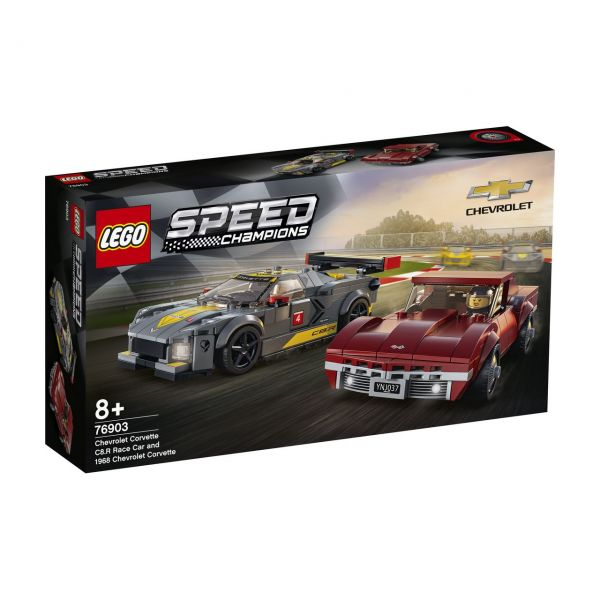 LEGO 76903 - Speed Champions - Chevrolet Corvette C8R & 1968 Chevrolet Corvette