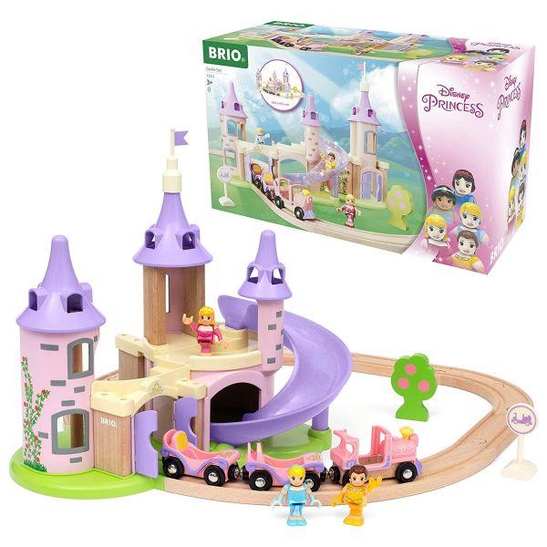BRIO 33312 - World - Disney Princess Traumschloss Eisenbahn-Set