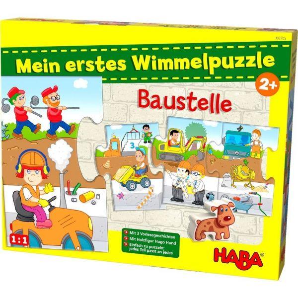 HABA 303705 - Mein erstes Wimmelpuzzle - Baustelle