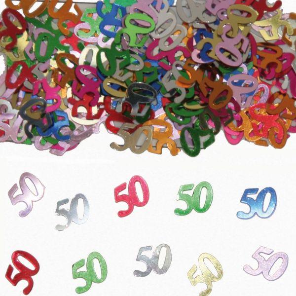 FOLAT 05316 - Geburtstag & Party - 50 Jahre Tischkonfetti