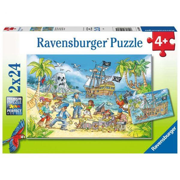 RAVENSBURGER 05089 - Puzzle - Die Abenteuerinsel, 2x24 Teile