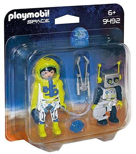 PLAYMOBIL 9492 - Space - Duo Pack, Astronaut und Roboter