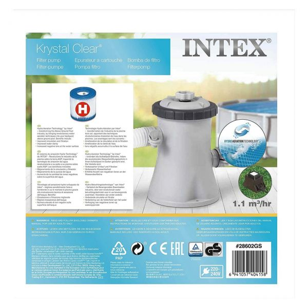 INTEX 28602GS - Poolzubehör - Pumpe Krystal Clear Filterpumpe Filter