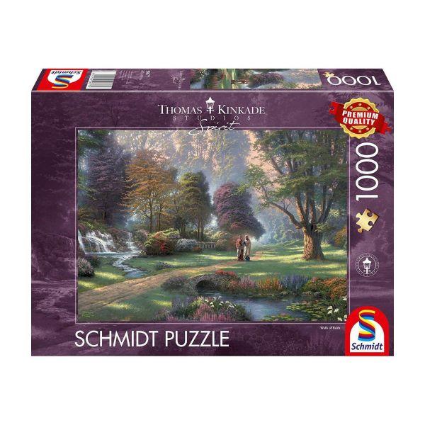 SCHMIDT 59677 - Puzzle - Thomas Kinkade, Weg des Glaubens, 1000 Teile