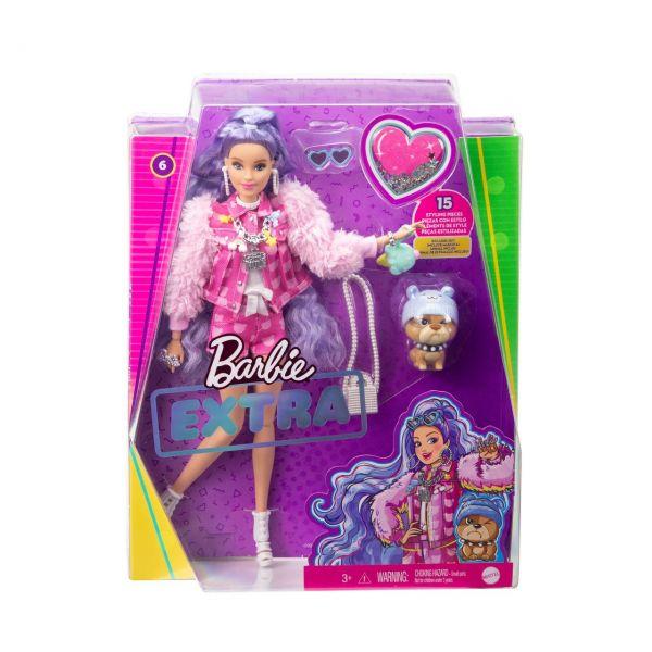 MATTEL GXF08 - Barbie - Extra Puppe mit lila-welligen Haaren