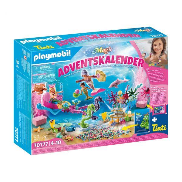 PLAYMOBIL 70777 - Adventskalender- Magic Badespaß Meerjungfrauen, 2021
