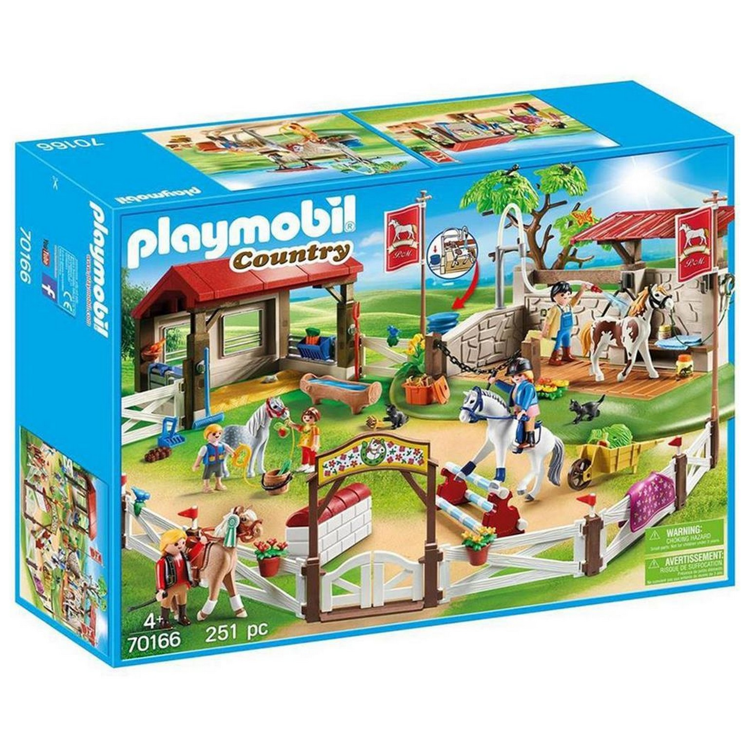 playmobil 70166  country  großer reiterparcours