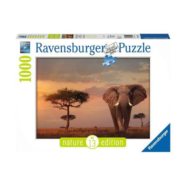 RAVENSBURGER 15159 - Puzzle - Elefant in Masai Mara National Park, 1000 Teile