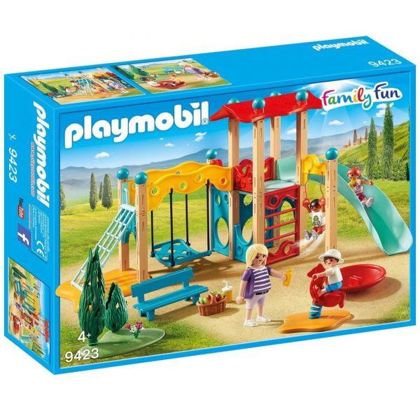PLAYMOBIL 9423 - Family Fun Ferienvilla - Großer Spielplatz