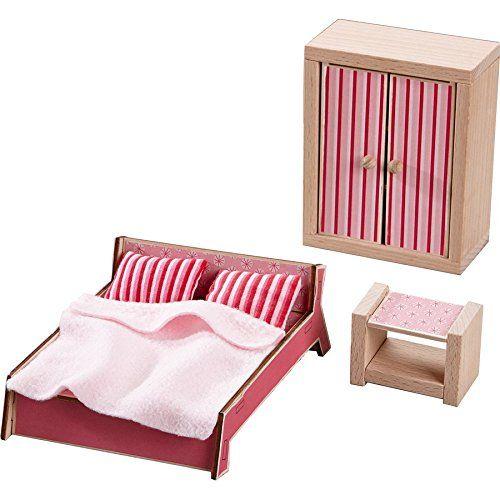 HABA 301988 - Little Friends - Puppenhaus-Möbel Schlafzimmer für Erwachsene