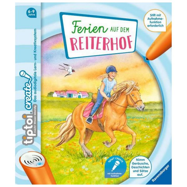RAVENSBURGER 65886 - tiptoi Buch - CREATE - Ferien auf dem Reiterhof
