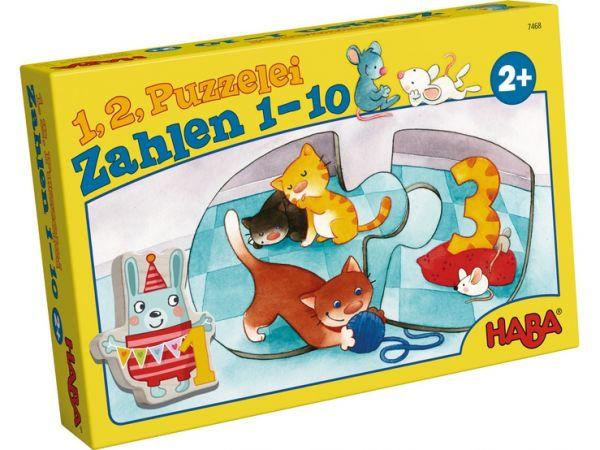 HABA 7468 - Puzzle - 1, 2, Puzzelei - Zahlen 1 - 10