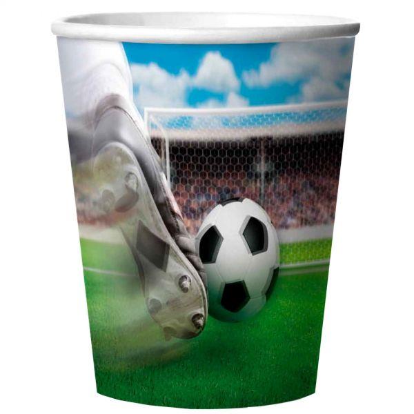 FOLAT 26201 - Geburtstag & Party - Fußball 3D Plastik-Becher, 4 Stk., 266 ml