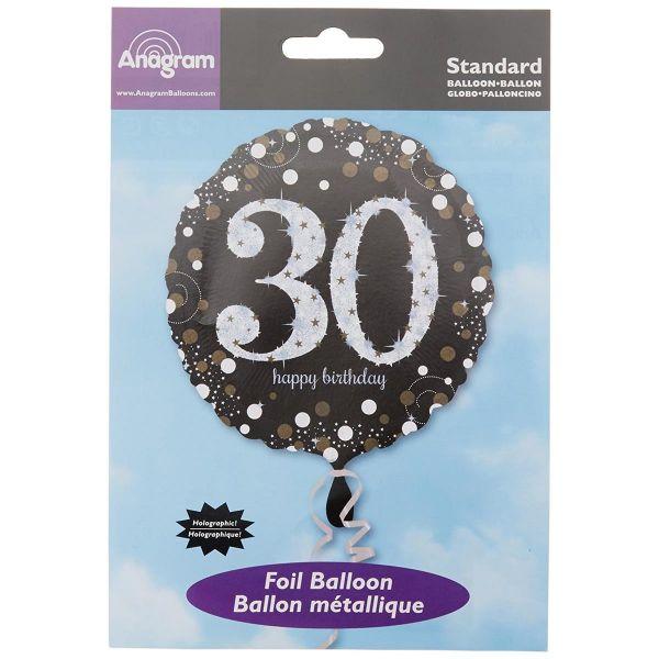 AMSCAN 3212901 - Folienballon - 30. Geburtstag Happy Birthday, rund