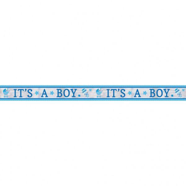 """AMSCAN 120188 - Geburtstag & Party - Folienbanner """"It's a boy"""", 635 cm"""