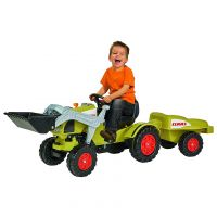 BIG 800056553 - Kinderfahrzeug - Traktor Claas Celtis Loader mit Anhänger