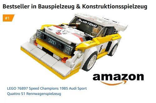 Spielzeugwelten Magazin - LEGO Speed Champion Audi Sport quattro S1 Platz 1 auf Amazon