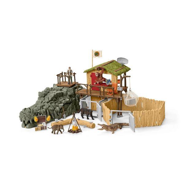 SCHLEICH 42350 - Wild Life - Dschungel Forschungsstation Croco