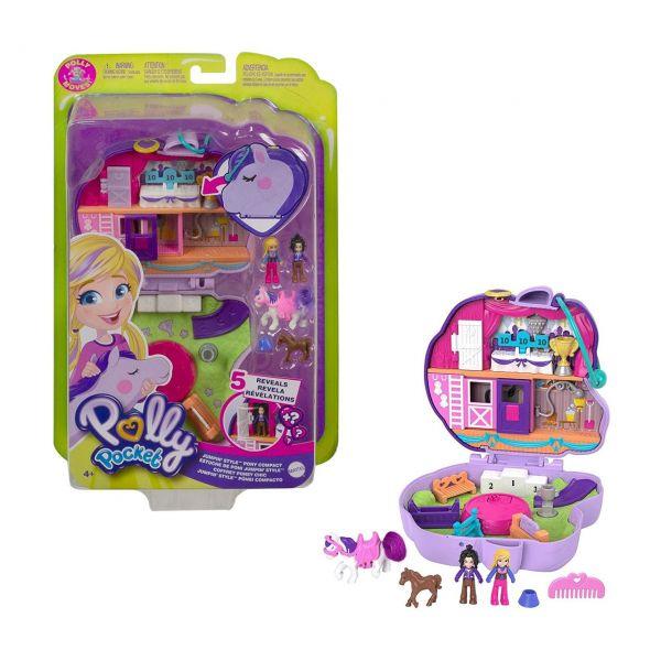 MATTEL GTN14 - Polly Pocket - Pony-Springspass Schatulle