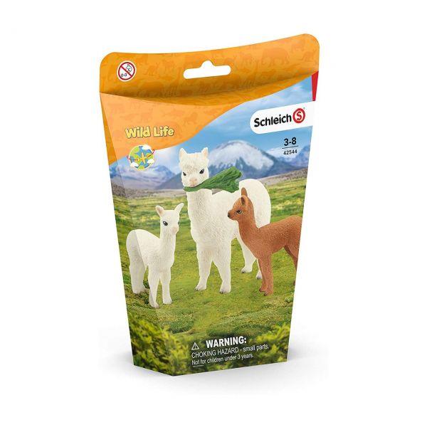 SCHLEICH 42544 - Wild Life - Alpakafamilie