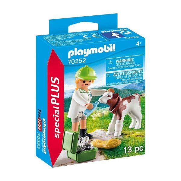 PLAYMOBIL 70252 - Special Plus - Tierärztin mit Kälbchen