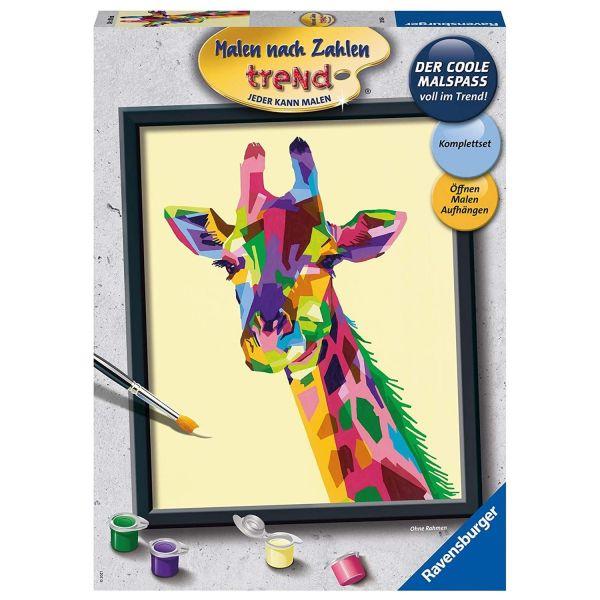 RAVENSBURGER 28926 - Malen nach Zahlen - Bunte Giraffe