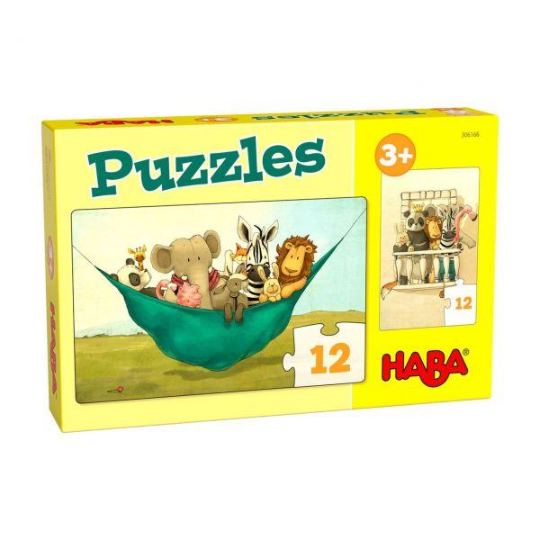 HABA 306166 - Puzzle - Löwe Udo, 2x12 Teile