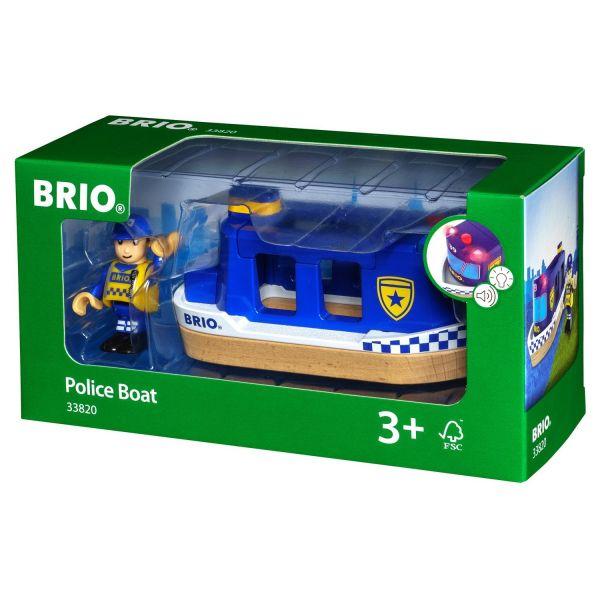 BRIO 33820 - Bahn - Polizeiboot mit Licht und Sound