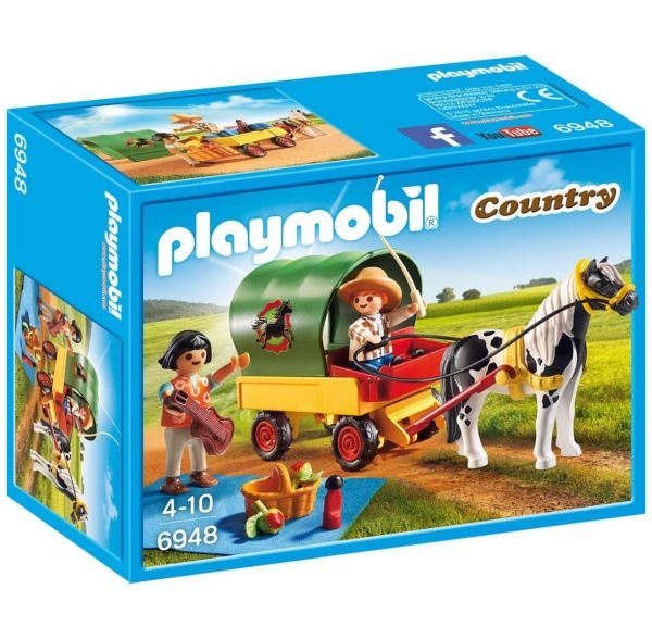 PLAYMOBIL 6948 - Country Reiterhof - Ausflug mit Ponywagen