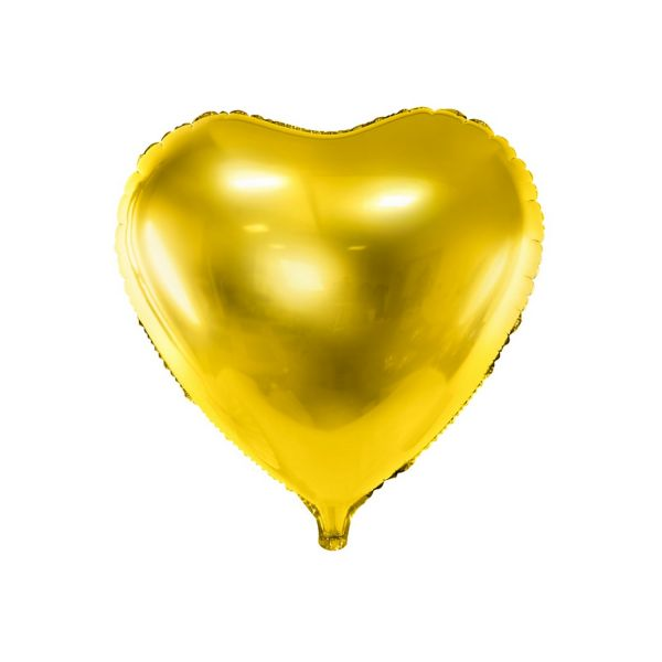 PD FB23M-019 - Folienballon - Herz, Gold, ca. 61cm