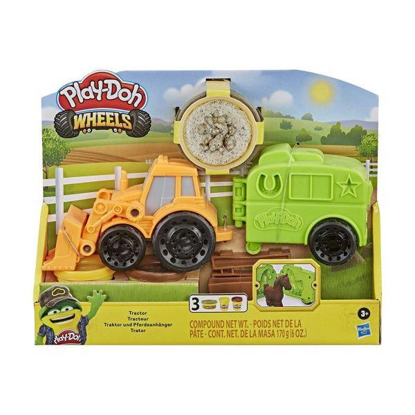 HASBRO F1012 - Play-Doh Wheels - Traktor und Pferdeanhänger