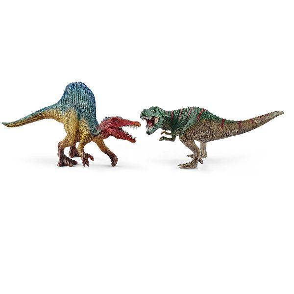 SCHLEICH 41455 - Dinosaurs - Spinosaurus und T-Rex im Set