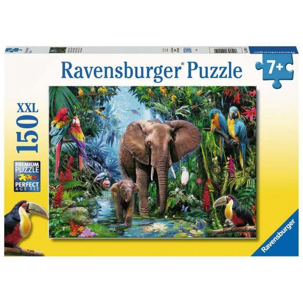 RAVENSBURGER 12901 - Puzzle - Dschungelelefanten, 150 Teile