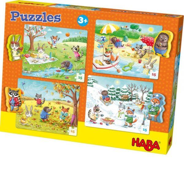 HABA 301888 - Puzzle - Jahreszeiten