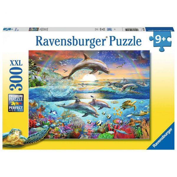 RAVENSBURGER 12895 - Puzzle - Delfinparadies, 300 Teile