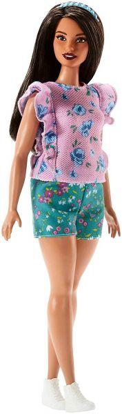 MATTEL FJF43 - Fashionistas - Barbie in rosa Blumen-Oberteil