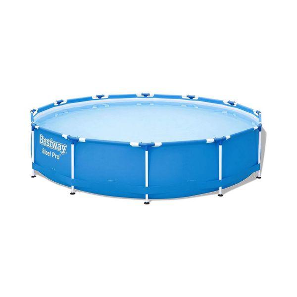 BESTWAY 56706 - Pool - Steel Pro Framepool ohne Pumpe rund, 366x76 cm
