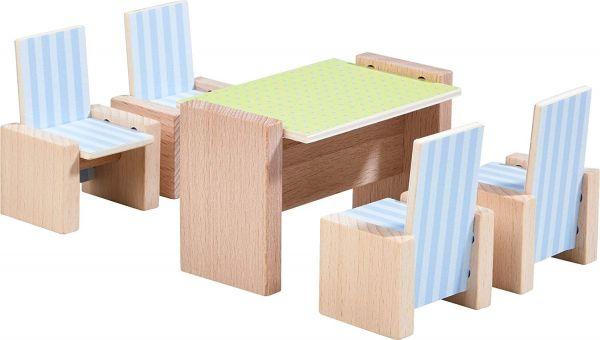 HABA 303839 - Little Friends - Puppenhaus Möbel, Esszimmer